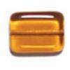 Glass Bead Bricks 20x15mm Topaz - Strung